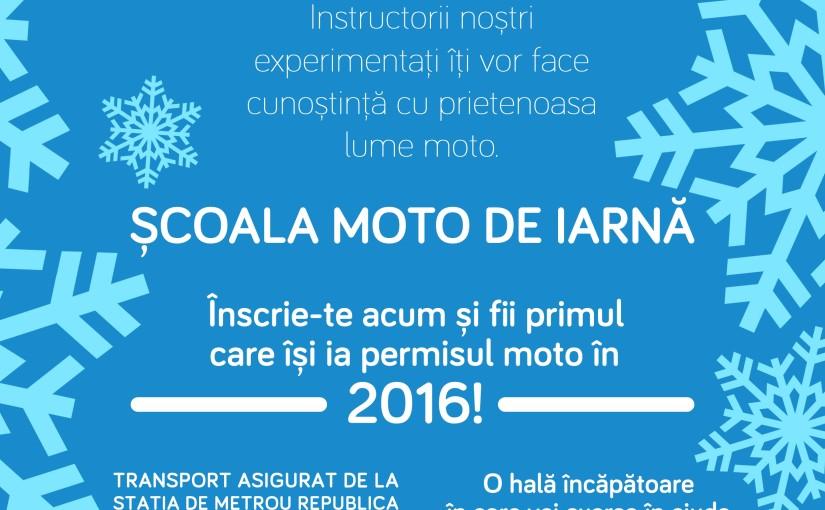 Scoala Moto Iarna. Prima sedinta de test gratuita!