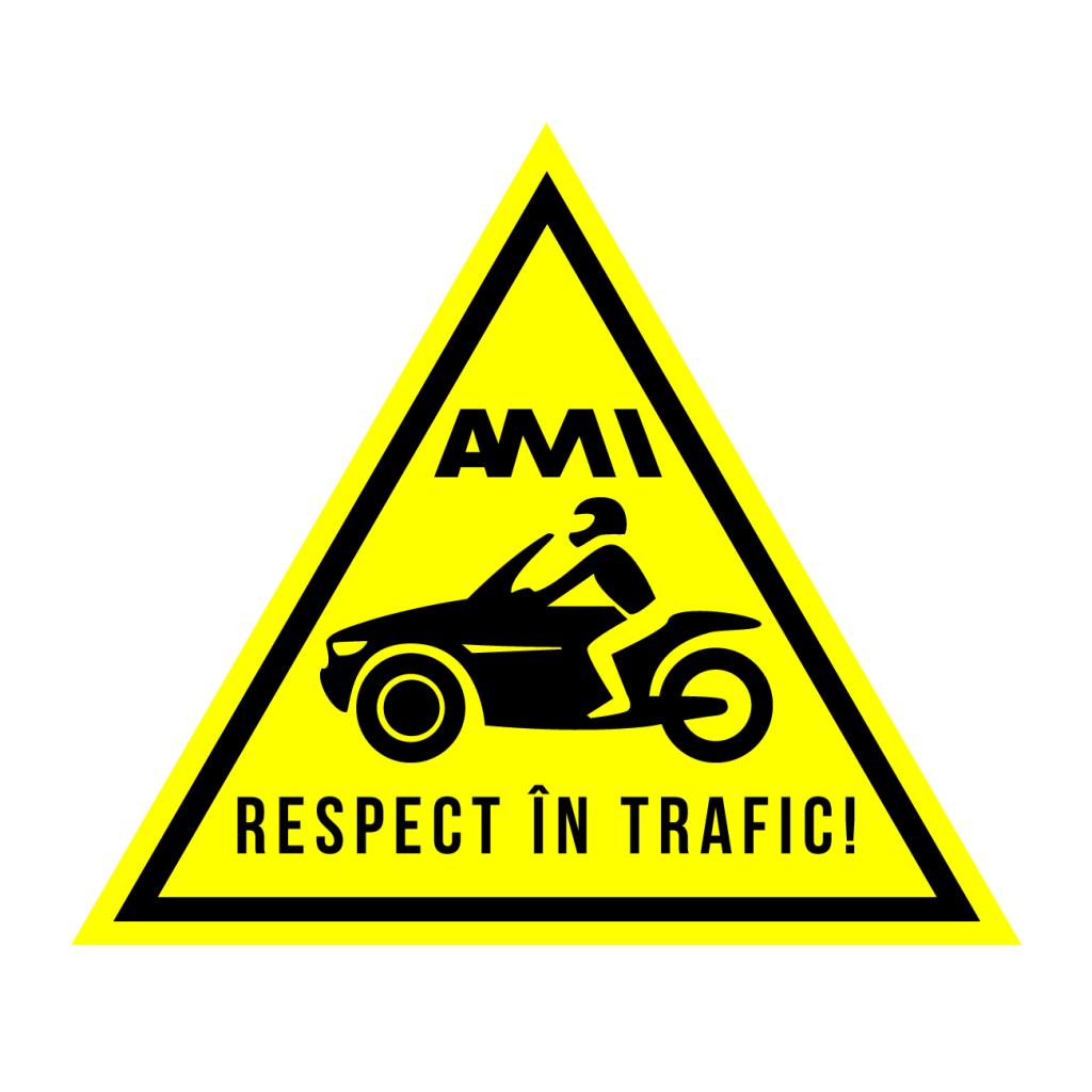 atentie la motociclisti - scoala moto ami - Respect in trafic