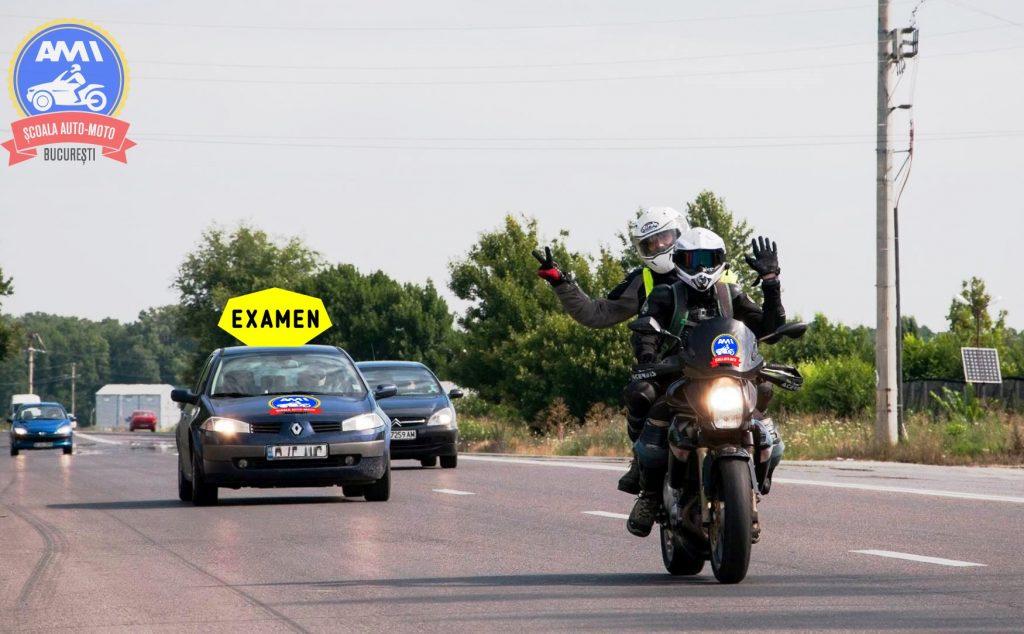 examen moto in trafic - scoala moto ami