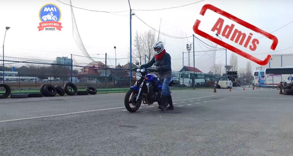Penalizari examen moto in poligon - scoala moto AMI