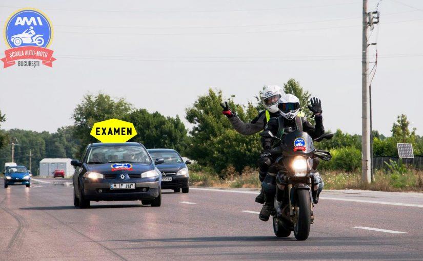Penalizari examen moto in trafic 2021